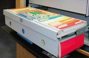 Lektriever file drawer