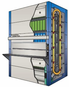 Diagram of Lektriever for storage automation